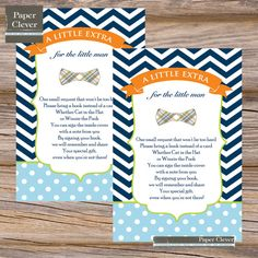 Bowtie baby shower bring a book insert, navy, lime - instant download on Etsy, $6.00