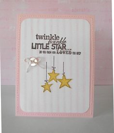 "A card I created using the Unity Stamp set ""Twinkle Twinkle""."