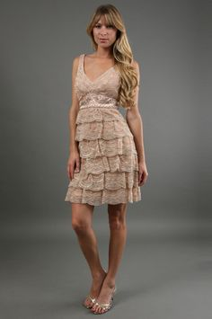 The Tiered Skirt Short Dress by Sue Wong at CoutureCandy.com