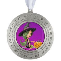 pretty purple witch collection ornament