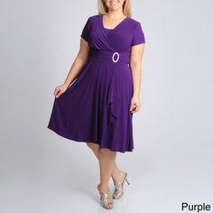 R & M Richards Women's Plus Rhinestone Applique Evening Dress | Overstock.com Shopping - The Best Deals on Dresses