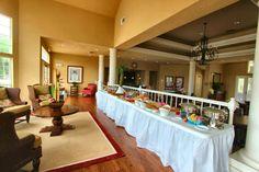 Tropical themed buffet
