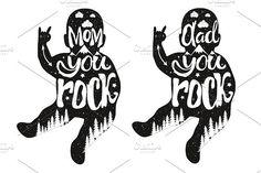 Mom and Dad childish print design by julymilks on @creativemarket