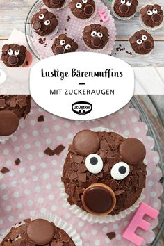 Funny bear muffins - Funny cupcakes Funny cupcakes Funny cupcakes Welcome to our website, We hope you are satisfied wit - Cute Baking, Fall Baking, Kids Baking, Baking Ideas, Cheesecake Cupcakes, Cakes Originales, Baking Wallpaper, Cupcakes Decorados, Bon Dessert