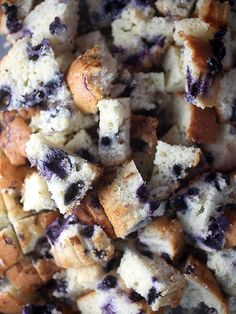 Bakerella's blueberry muffin bread pudding — easy and delicious! http://greatideas.people.com/2014/05/23/bakerella-blueberry-muffin-bread-pudding-recipe/