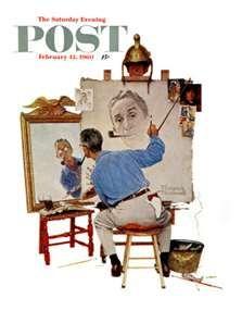 Self Portrait ~ Norman Rockwell