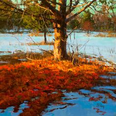 I just love this - the shadows are so well done and contribute to the realism.  Peter Fiore Landscape Painting