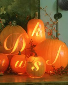 Lettered pumpkins