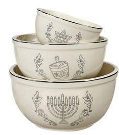 Hanukkah Ceramic Dolomite Bowl- Set of 3: Hanukkah: home decor: Shop | Joann.com