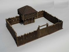 Minecraft Fort, English Restoration, Wooden Fort, Forte Apache, Castle Layout, Warhammer Terrain, Minecraft Blueprints, Wargaming Terrain, Colonial