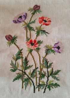 Diy Embroidery, Cross Stitch Embroidery, Embroidery Patterns, Cross Stitch Thread, Cross Stitch Flowers, Cross Stitch Designs, Cross Stitch Patterns, Saree Painting Designs, Hello Saturday