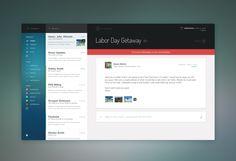 AOL Mail Client Concept | #ui