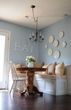 how to build a corner breakfast nook | Los comedores pequeños pueden lucir hermosos si los decoramos al ...