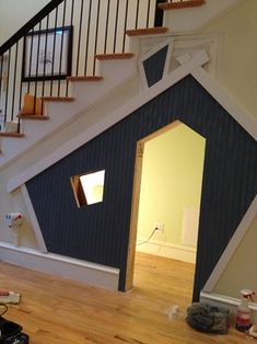 Kids play space under stairs