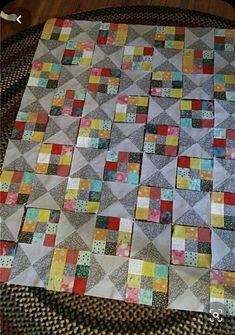 Colchas Quilting, Patchwork Quilt Patterns, Scrappy Quilts, Easy Quilts, Quilting Projects, Patchwork Designs, Jellyroll Quilts, Sewing Projects, 9 Patch Quilt