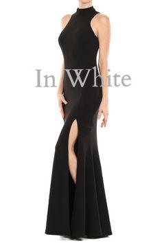 Ocean Drive Slit Maxi Dress - Black.