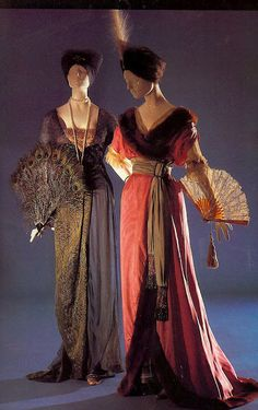 Evening Gowns (1913-1914) Left Designer Jeanne Hallee Right Soeurs Callot
