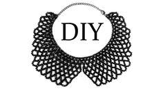 DIY: How to make beaded necklace (collar). Как сплести воротник из бисера…