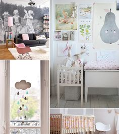pink and grey by baby space interiors, via Flickr