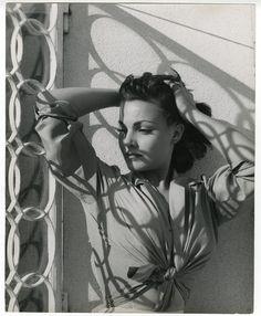 Carmen Sevilla by Peter Basch, 1957. black and white, shadows.