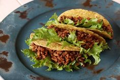 """Homemade Ground Beef Tacos - Ditch the sketchy """"taco seasoning"""" envelope with it's mysterious milk allergy warnings and way too sodium. Homemade Ground Beef Tacos are a snap, and can be made almost anywhere in a Rice Cooker. Gluten Free Tacos, Gluten Free Taco Seasoning, Make Taco Seasoning, Seasoning Recipe, Quick Ground Beef Recipes, Mexican Food Recipes, Healthy Recipes, Healthy Foods, Ground Beef"""