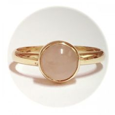 Ring van Goud in combinatie met Rozenkwarts