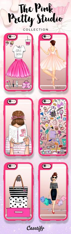 Check out these designs by The Pink Pretty Studio >>>… Iphone 7 Plus Cases, Iphone Phone Cases, Iphone 5s, Phone Case Store, Diy Phone Case, Cute Cases, Cute Phone Cases, Tout Rose, Accessoires Iphone