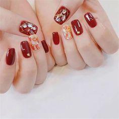 Nail art Christmas - the festive spirit on the nails. Over 70 creative ideas and tutorials - My Nails Korean Nail Art, Korean Nails, Nail Art Designs, Nail Art Halloween, Nail Color Trends, Japanese Nails, Nail Swag, Nail Polish Colors, Color Nails