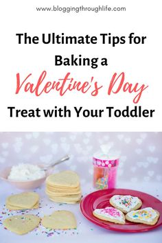 Baking sugar cookies with your toddler is a fun & engaging activity. Create beautiful memories & traditions they will always remember. Valentine's Day Sugar Cookies, Sugar Cookies Recipe, Valentines Day Desserts, Valentine Crafts, No Bake Treats, Yummy Treats, Baking With Kids, How To Make Cookies, Learn To Cook