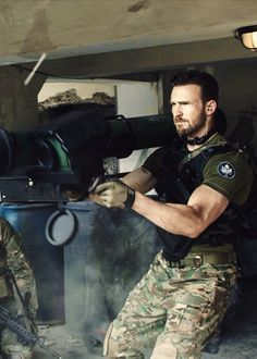 I'm not turned on by Chris Evans operating heavy machinery in army clothes and muscles pumped. I'm not. There are sexier images out there. Probably. Possibly. Arguably. Or maybe not...