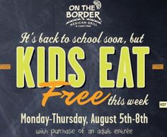 On the Border Coupon: Kids Eat FREE