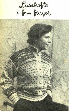 Lusekofte i fem farger fra kofteboka 1953 Fair Isle Knitting, Hand Knitting, Color Patterns, Knitting Patterns, Norwegian Knitting, How To Start Knitting, Vintage Knitting, Traditional Art, Norway