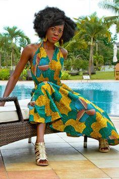 ANYA  3-Way Halter Dress  Fabric: Cotton  $69.00