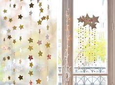 Diy-Navidad: Móvil de estrellas y papel decorativo o washi
