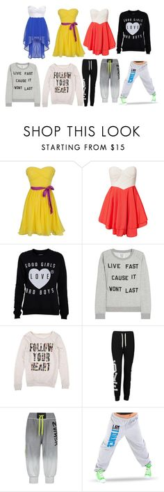 """From Nessie"" by mdealy ❤ liked on Polyvore featuring Club L, Zoe Karssen, Influence and Zumba"