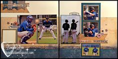 Baseball layout using CTMH Urban by Rose Blossom Legacies Baseball Scrapbook, School Scrapbook, Scrapbook Titles, Scrapbook Sketches, Scrapbooking Layouts, Photo Layouts, Page Layout, Itasca State Park, Paper Craft Making