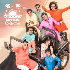 Are you wasting the summer by staying indoors. This 100% cotton Kurta collection (http://www.manyavar.com/summer-collection.html) is designed for rescue.