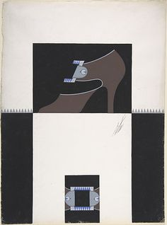 Shoe Design for Delman's Shoes, New York Erté (Romain de Tirtoff) (French (born Russia), St. Petersburg 1892–1990 Paris) Date: 1934