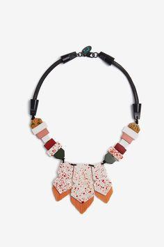 Collar geométrico con cedras - collares y pulseras | Adolfo Dominguez shop online