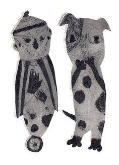 Paper Prints by HIromi sumida, Japan 「きけんなふたり」