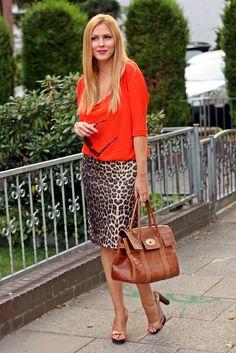 Ways to wear the leopard skirt I got at Value Village