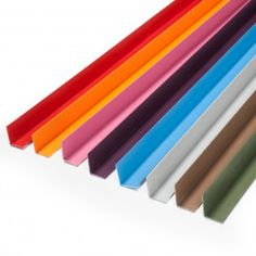 CANTONERA DE PVC COLORES ESPECIALES La Cantonera de PVC colores especiales es un perfil de PVC perfecto para decorar, proteger y acabar mobiliario y todo tipo de objetos. Disponible en varios colores, longitudes y anchuras de perfil. #ÁngulosdePVC #CantoneradePVC #RemateparaMuebles #LProfile #PVCLProfile Office Supplies, Angles, Stair Nosing, Colors, Objects