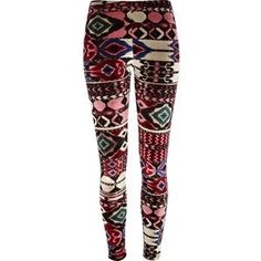 Tribal print tights, clothes
