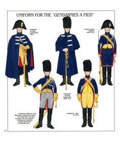 Gendarmeria di élite a piedi della guardia imperiale, 1804-1815