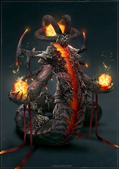 Concept for Kalypso Media GmbH Damned Mage Fantasy Demon, Fantasy Monster, High Fantasy, Monster Art, Fantasy Warrior, Fantasy Art, Humanoid Creatures, Weird Creatures, Fantasy Creatures