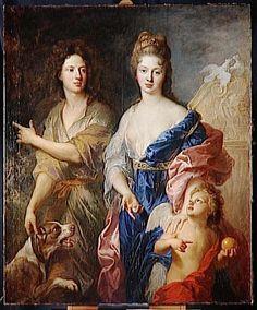 7- Louise Françoise et son frère Louis Auguste. -§ LOUISE-FRANÇOISE DE BOURBON: .. mais cette mésalliance est facilitée par la dot procurée par Louis XIV, plus d'un million de livres et en donnant le gouvernement de Bourgogne aux Condé et en assurant la survivance de la charge de la surintendance du roi à la mort de son père et de son grand père.n Il meurt en 1710, et sa veuve se console vite. on prête à la duchesse en effet un penchant à la galanterie.