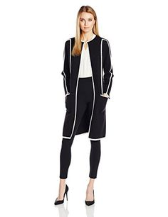 Calvin Klein Women's Long Knit Jacket with Piping, Black/... https://www.amazon.com/dp/B01LXFNSI9/ref=cm_sw_r_pi_dp_x_PHzuybZH8CF6J