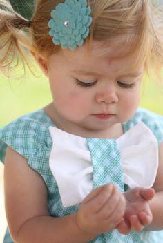 baby bow dress tutorial