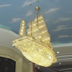 boat chandelier... my kingdom for an unlimited budget!.. I want it!