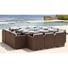 Skyline Design Pacific 12 Seater Dining Set